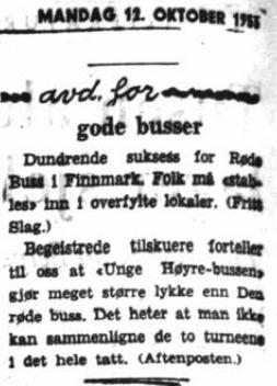 Røde buss Finnmark 50-tal